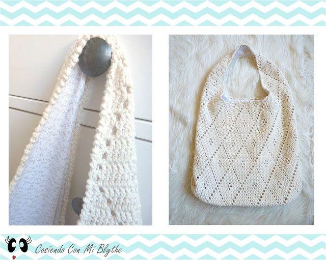 Patrón bolso de ganchillo de rombos | bufandas | Pinterest | Crochet ...