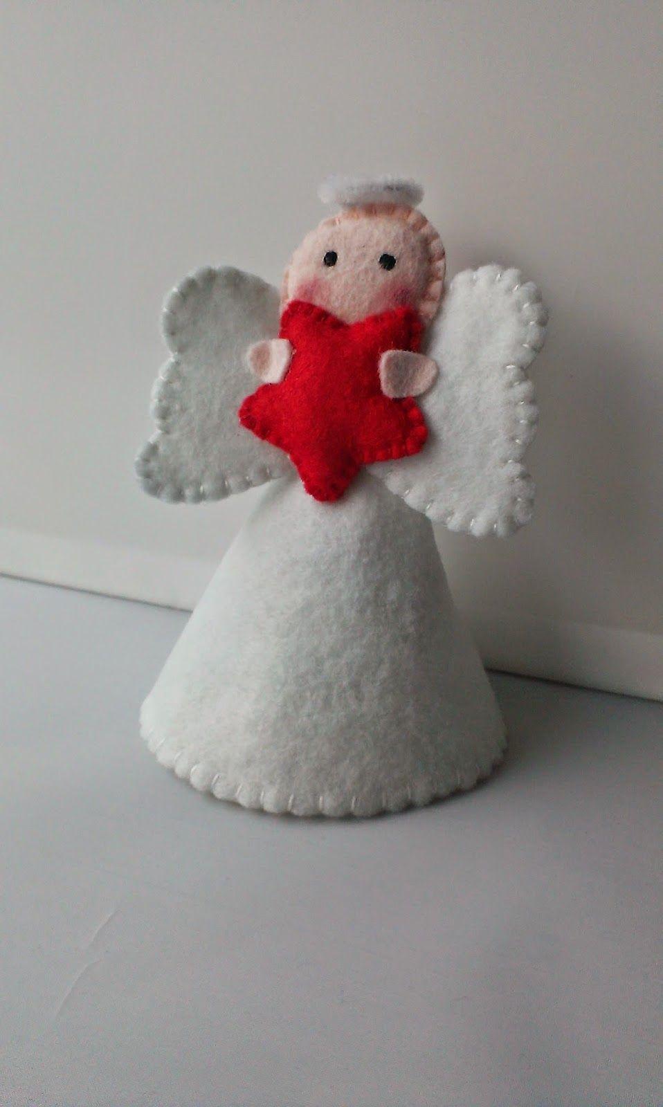 Felt Angel Christmas Tree Topper By Grace S Favours Diy Christmas Angel Tree Topper Diy Christmas Tree Topper Felt Christmas Decorations