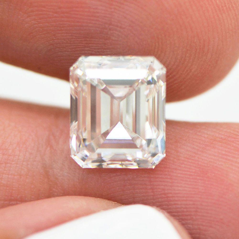 Details About Emerald Shape Diamond LAB GROWN 5.14 Carat
