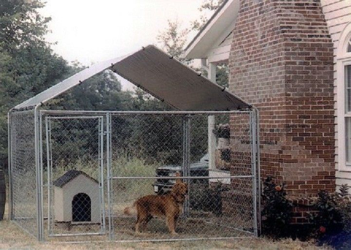Dog House Kennel Cage Cover Shade Shelter Outdoor Pen Pet Canopy