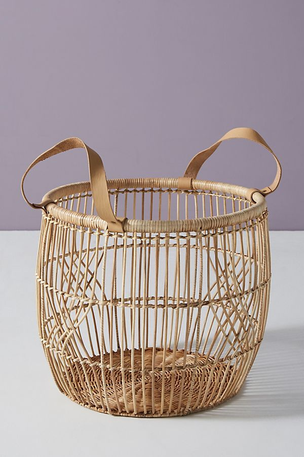 Amrita Basket by Anthropologie in White Size All, Storage