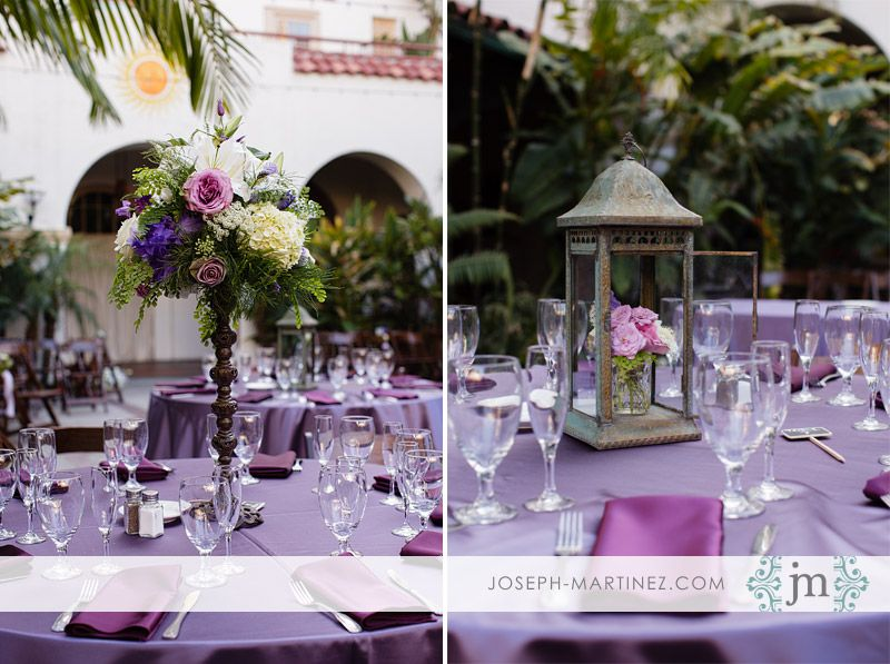 Twig & Blossom Floral Design. Purple and white wedding. Garden style wedding. Lanterns.