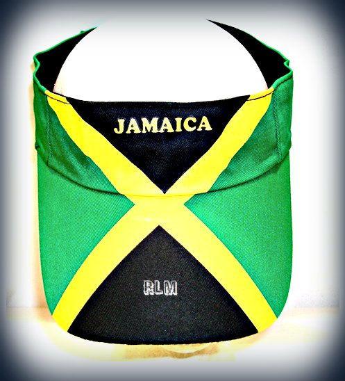 Reggae Land Muzik Store - Jamaica Flag - Visor (Hat) 00735be3b03a