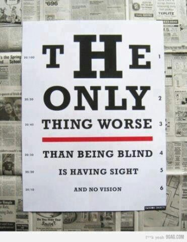 Don't be blind!