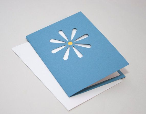 Daisy greeting card in blue and yellow with blank white liner daisy greeting card in blue and yellow with blank white liner m4hsunfo
