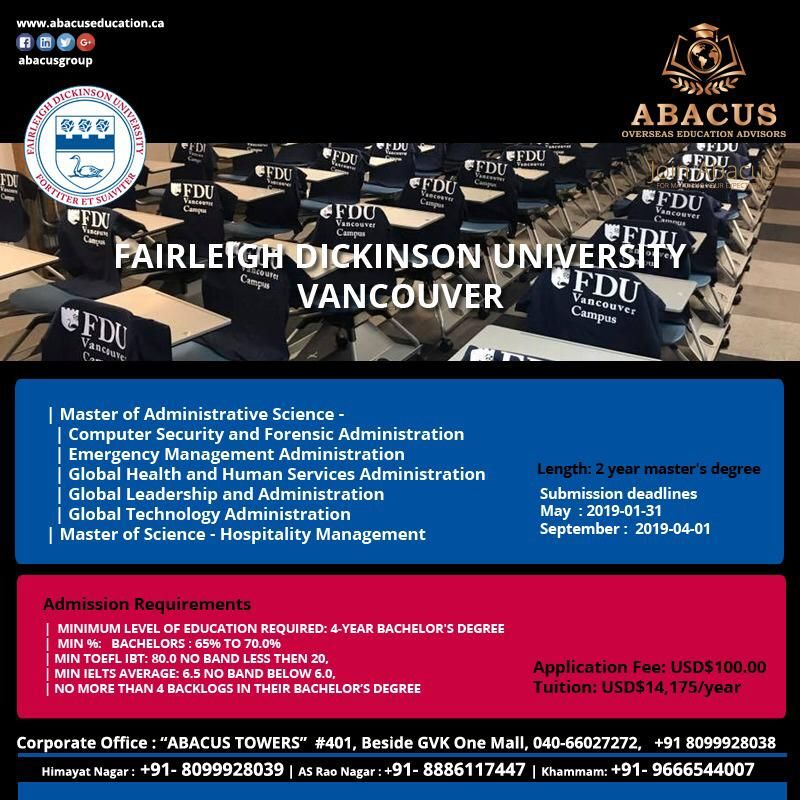 Apply for FAIRLEIGH DICKINSON UNIVERSITY! **Admission