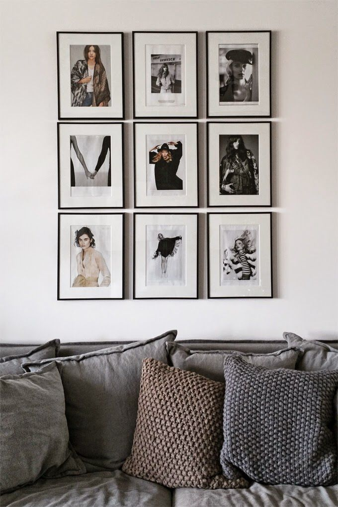 Framed Art and Photographs Gallery Wall | Home | Pinterest | Deco ...