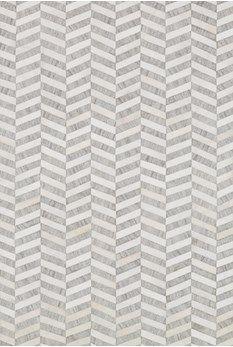 Gray Quilted Hyde Herringbone Rug Textured Carpet Rugs