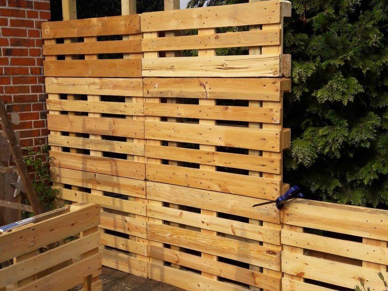 Paletten Recycling Sichtschutz Bauanleitung zum