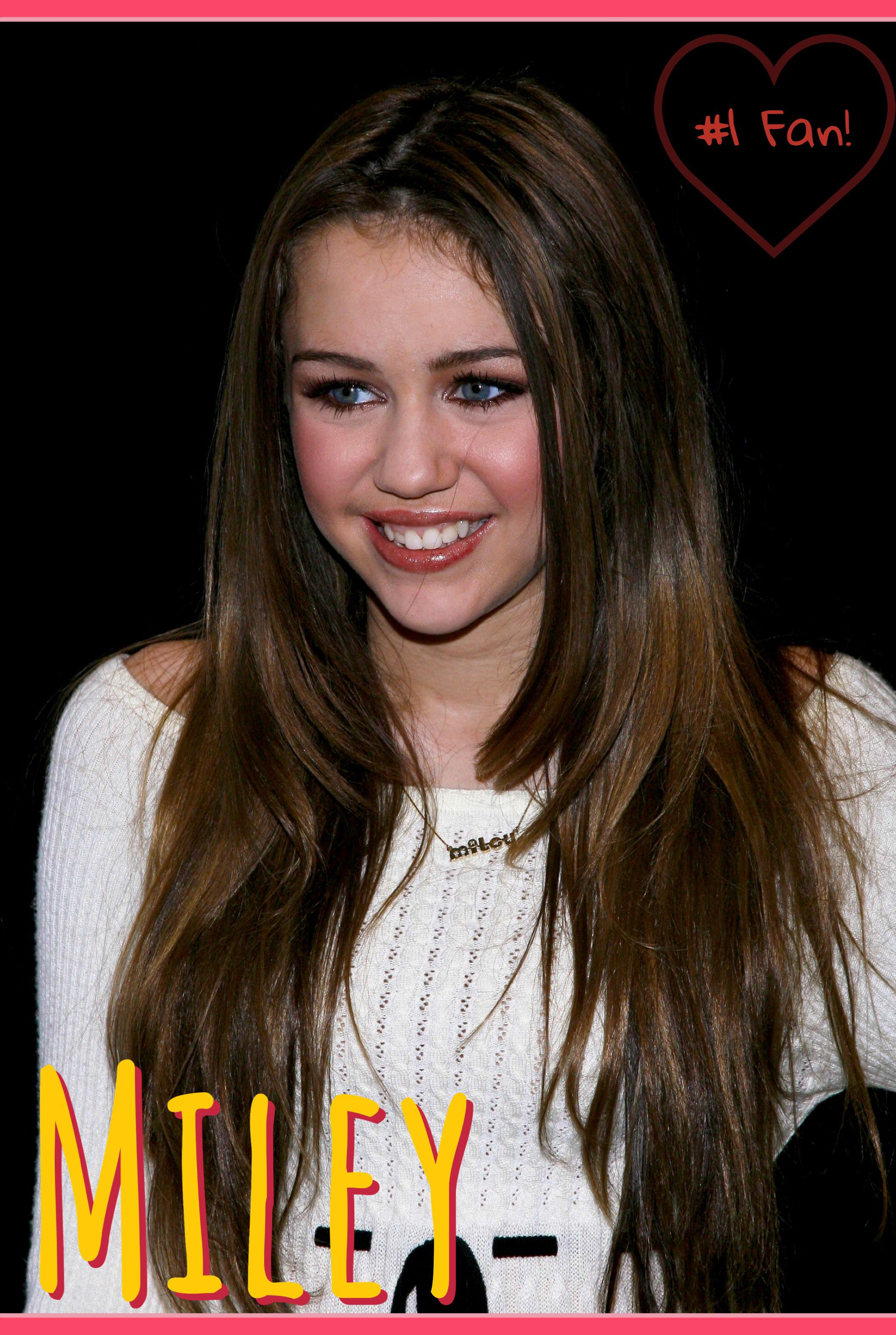 1 Miley Fan Poster Miley Miley Cyrus Hannah Miley