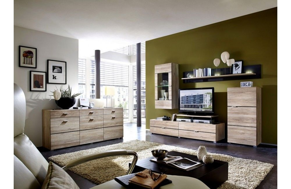 meuble de salon contemporain en bois ensemble. Black Bedroom Furniture Sets. Home Design Ideas