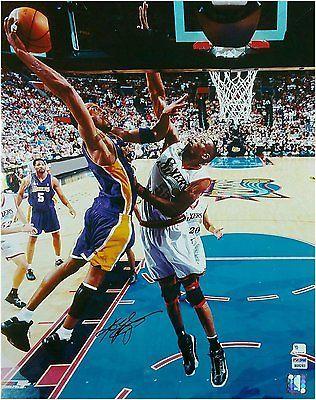 745643201e9d Kobe Bryant Hand Signed Autographed 16x20 Photo Vintage Mutombo Big Dunk  PSA DNA