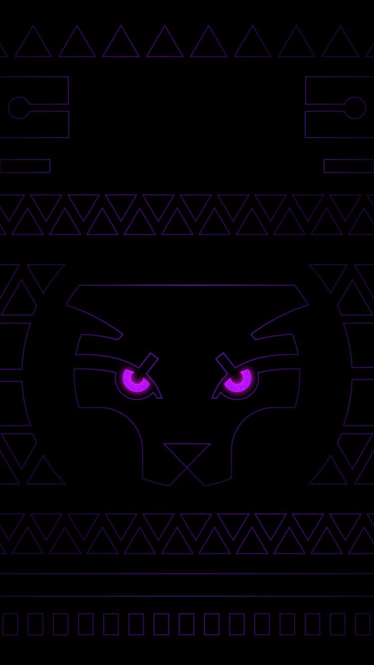 Black Panther Neon Wallpaper Black Panther Drawing Neon