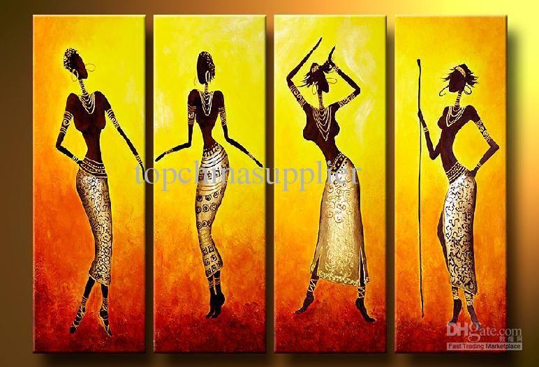 Painting Portrait African Women