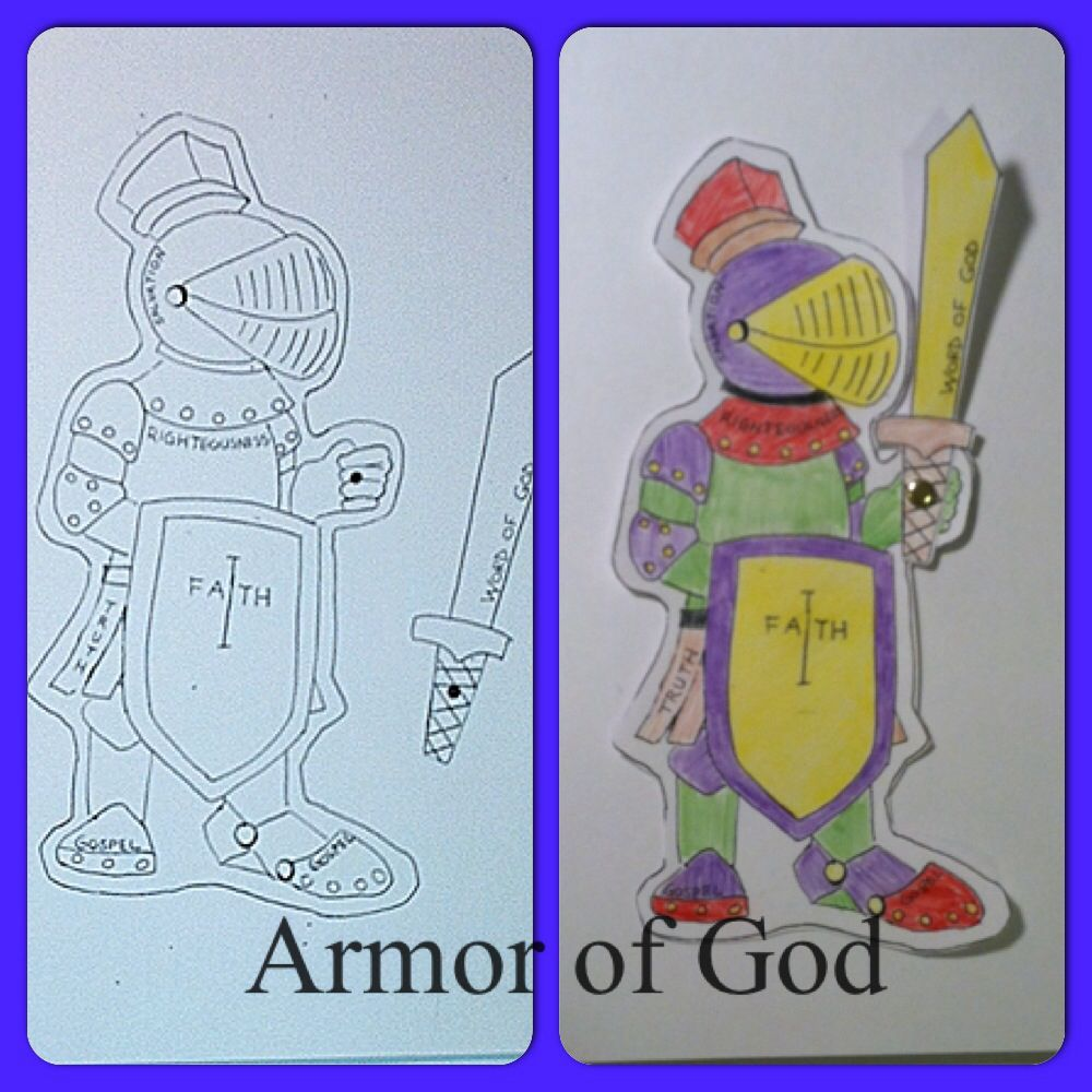 Armor of God - Color and cut out then use a brad to secure the sword ...