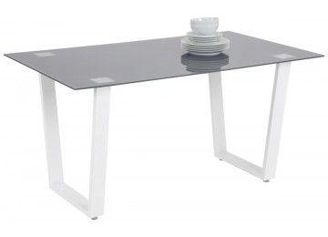 Glastisch Paul grau/ weiß 150 x 90 cm bei poco.de (With