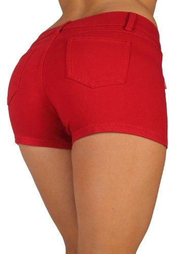 Basic Short Shorts Premium Stretch French Terry Moleton With a ...