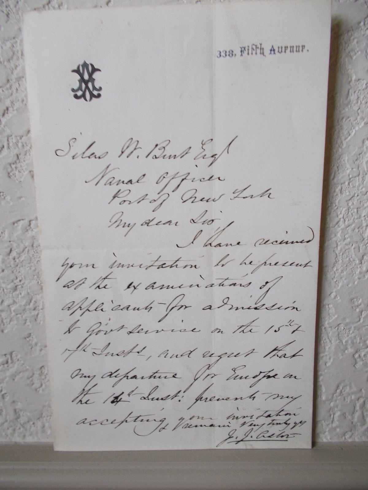 A letter from John Jacob Astor.