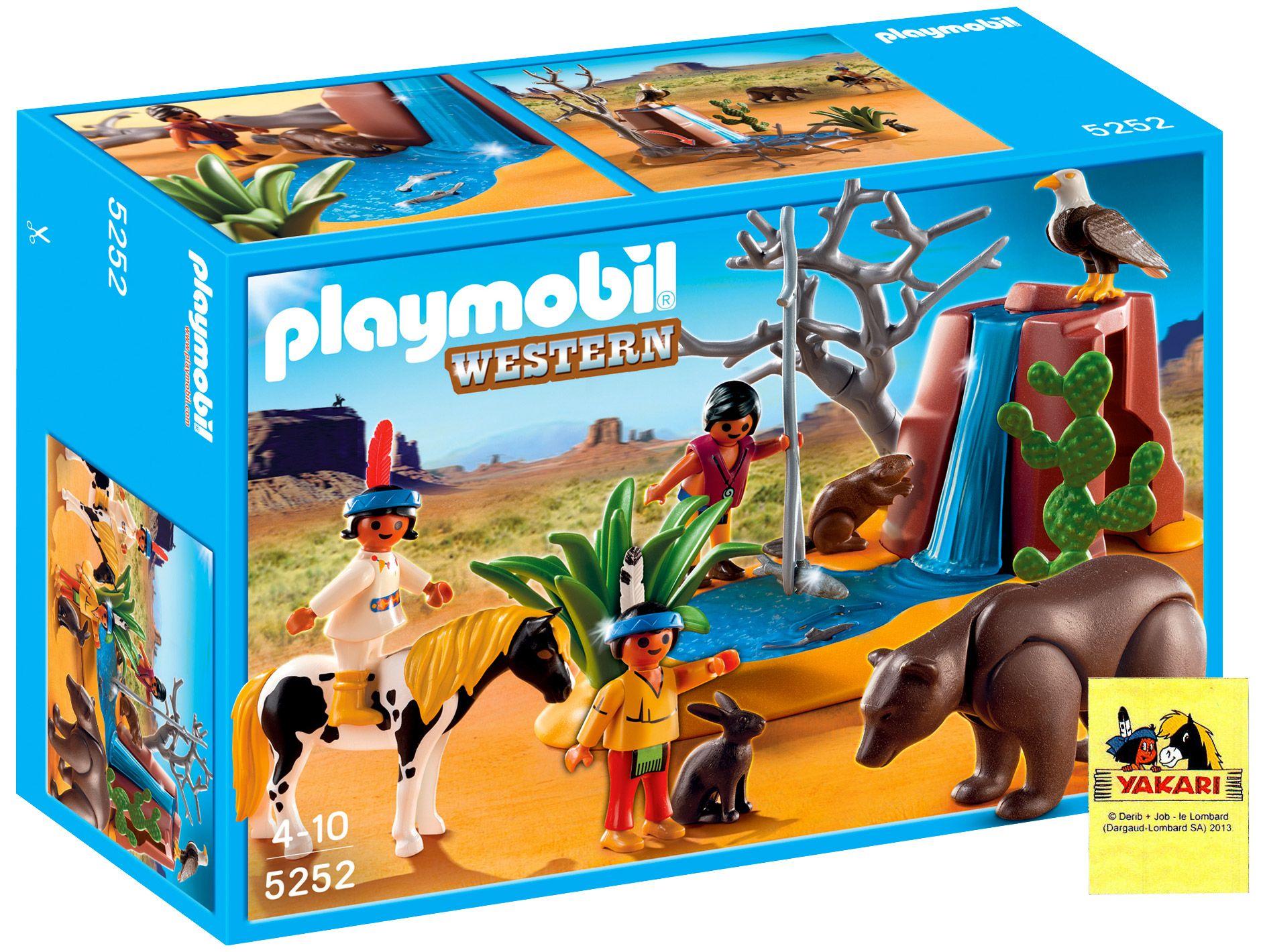 Playmobil Western 5252 Enfants Indiens Avec Animaux Yakari Playmobil Western Animaux Playmobil Indien