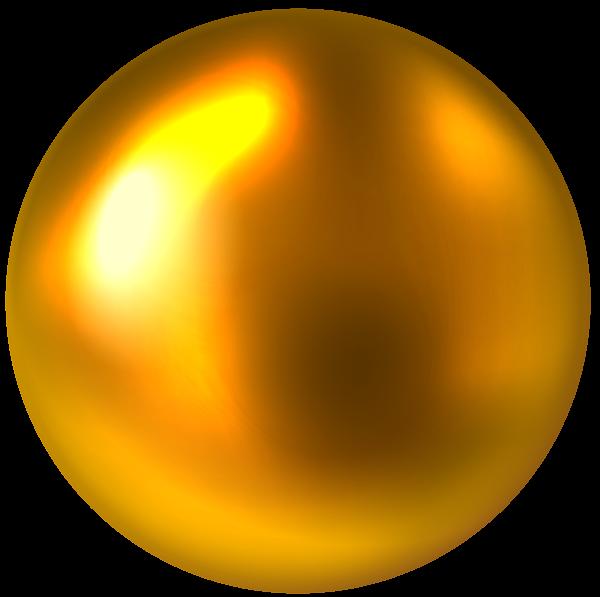 Gold Ball Free Png Clip Art Image Art Images Digital Borders Design Clip Art
