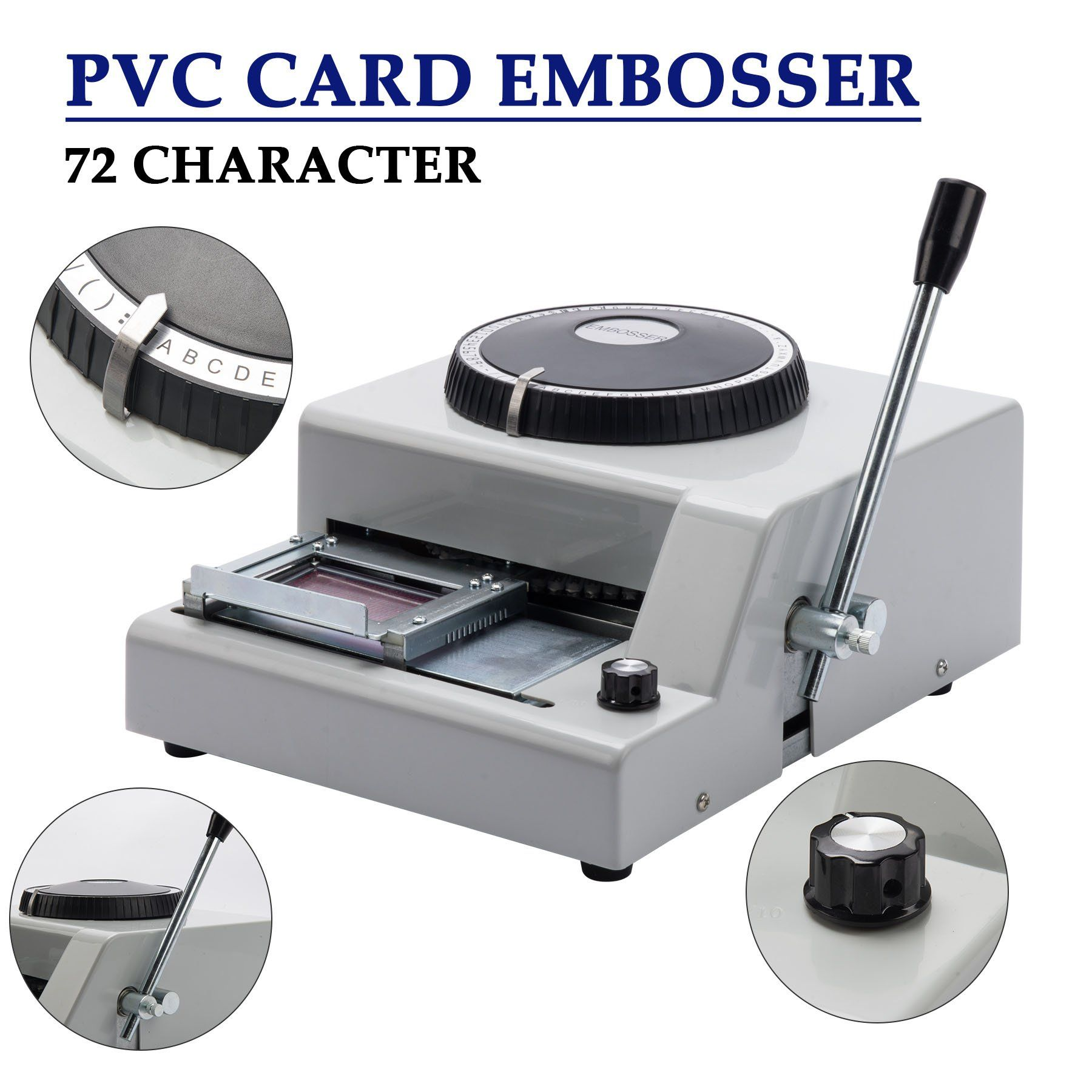 CO-Z 72-Character PVC Card Embosser Stamping Machine Credit ID VIP Magnetic Stamping Embossing
