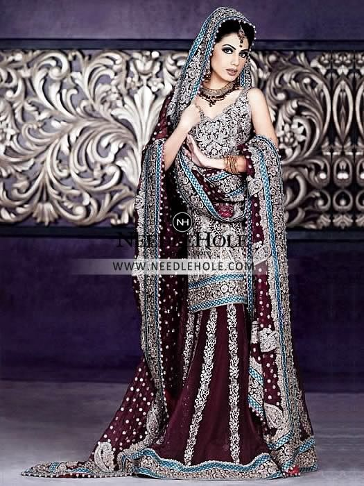 Beautiful Indian Wedding Sharara Outfit For Bride In Birmingham