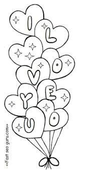 printable valentine heart balloons coloring pages  printable coloring pages for …  valentine