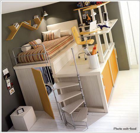 真似したくなるオシャレなロフトベットのある子供部屋のインテリア事例
