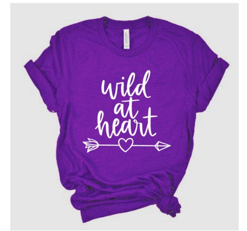 Glitter Wild at heart Shirt  Bella Canvas T Shirt  Just | Etsy