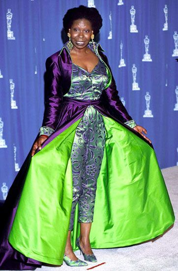 20 All Time Worst Oscar Dresses Whoopi Goldberg Wins