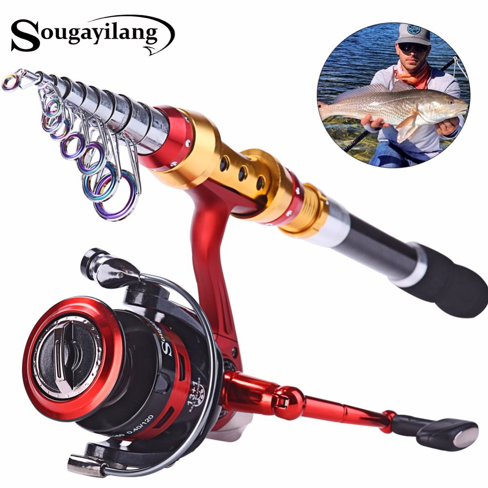4343c733318 Sougayilang Super Quality 1.8m-3.6m Carbon Fiber Telescopic Fishing Rod  with 14BB Spinning