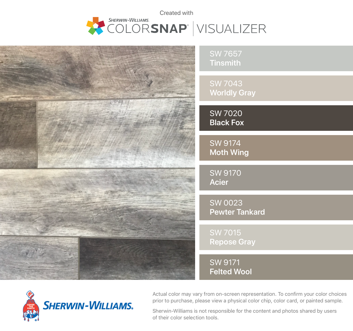 Home Interiorwall Design Ideas: I Found These Colors With ColorSnap Visualizer For IPhone