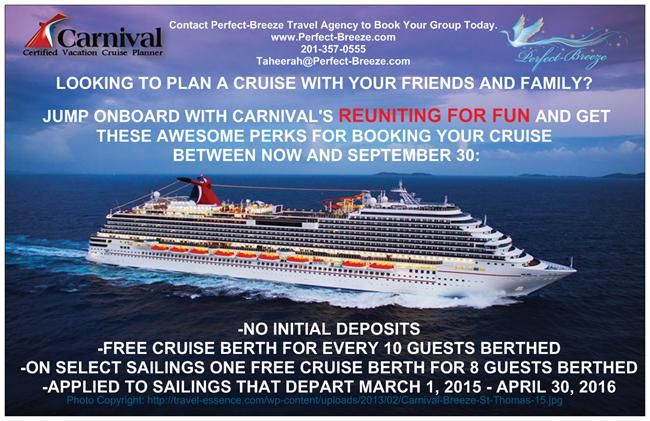It's time to start planning your group vacation with these amazing incentives!! Contact for details www.Perfect-Breeze.com