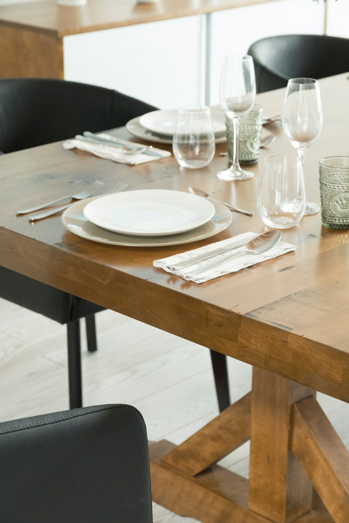 From Loft Comes The Rectangular Table With Pedestal Adding Its