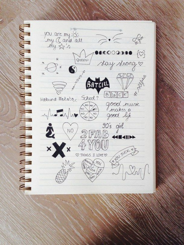 Drawing With Notebook Lines : Cute notebook doodles tumblr google search