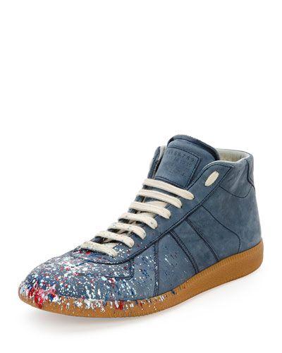 Maison Chaussures De Sport Éclaboussures De Peinture De Réplique De Margiela - Noir JN5tPdzR