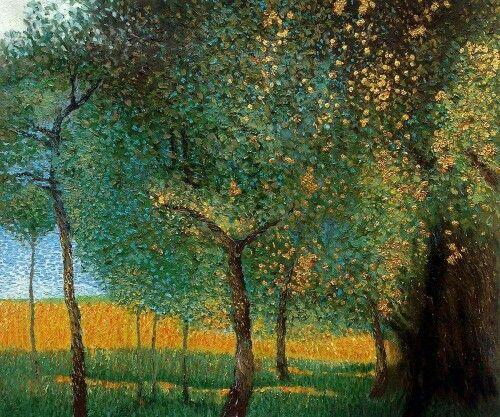 Gustav Klimt, Fruit Trees, 1901 (Luxury Line)