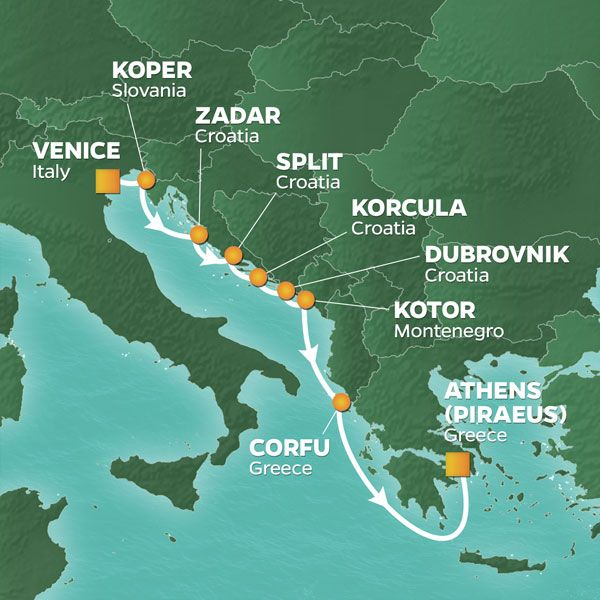 8-NIGHT CROATIA INTENSIVE VOYAGE - 07-Oct-22