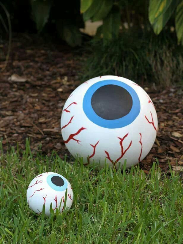 Beach ball painted eyeballs Halloween Party Pinterest I spy