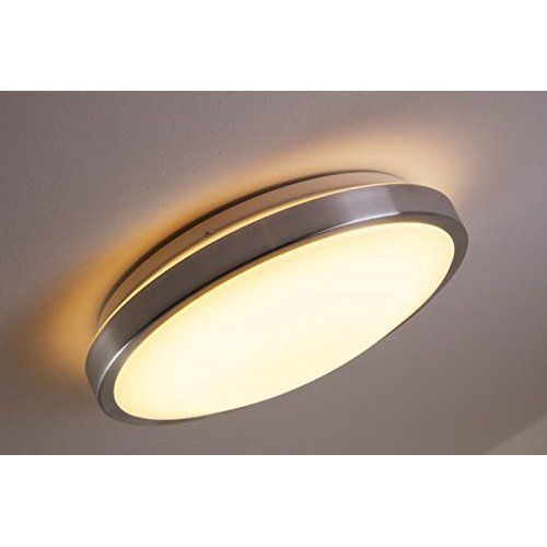 Astro 0906 Gr10 Osaka Ceiling Light Including 1 X 28 Watt 2d Cfl Bulb Brushed Nickel Ceiling Lights Ceiling Light