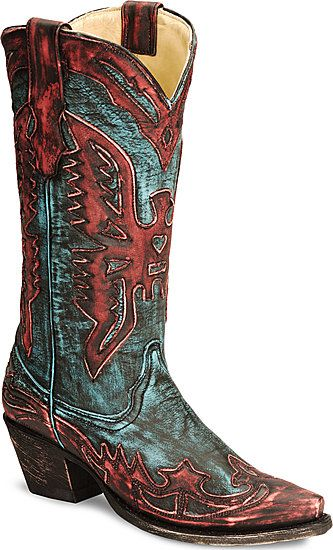 Corral Red Eagle Wingtip Cowboy Boot