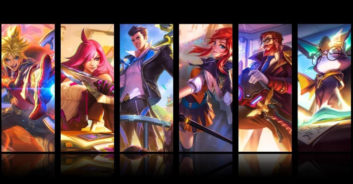Several Battle Academia Skins Heads Over To Pbe Lol L2pbomb League Of Legends Battle Lol