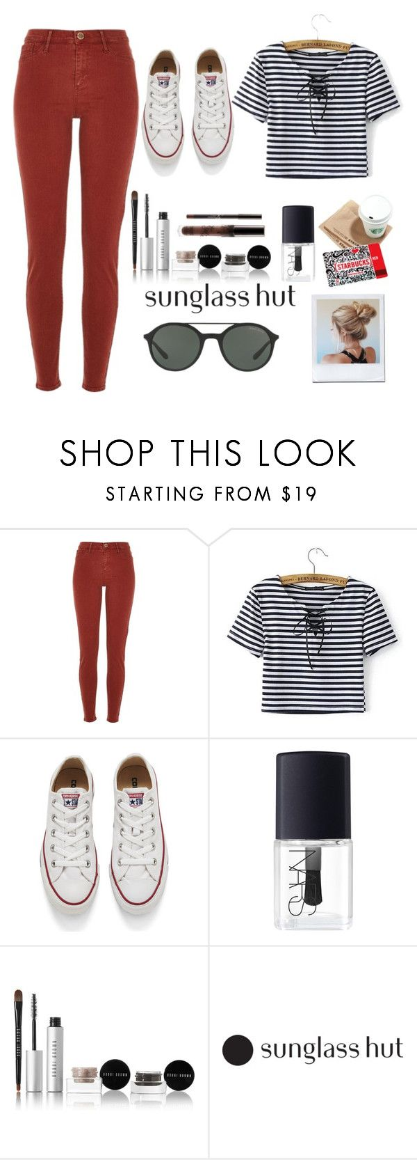"""Shades of You: Sunglass Hut Contest Entry"" by isabellysantanaa ❤ liked on Polyvore featuring River Island, Converse, NARS Cosmetics, Bobbi Brown Cosmetics, Guide London, Giorgio Armani and shadesofyou"