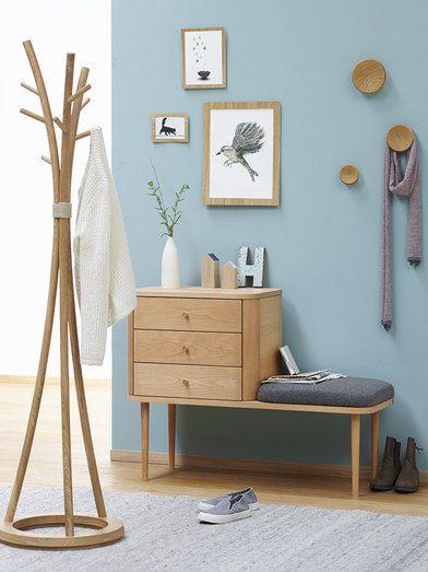 Garderobe Tonda Buche Woll/Hanfstoff Tanaro | Interior Design ...