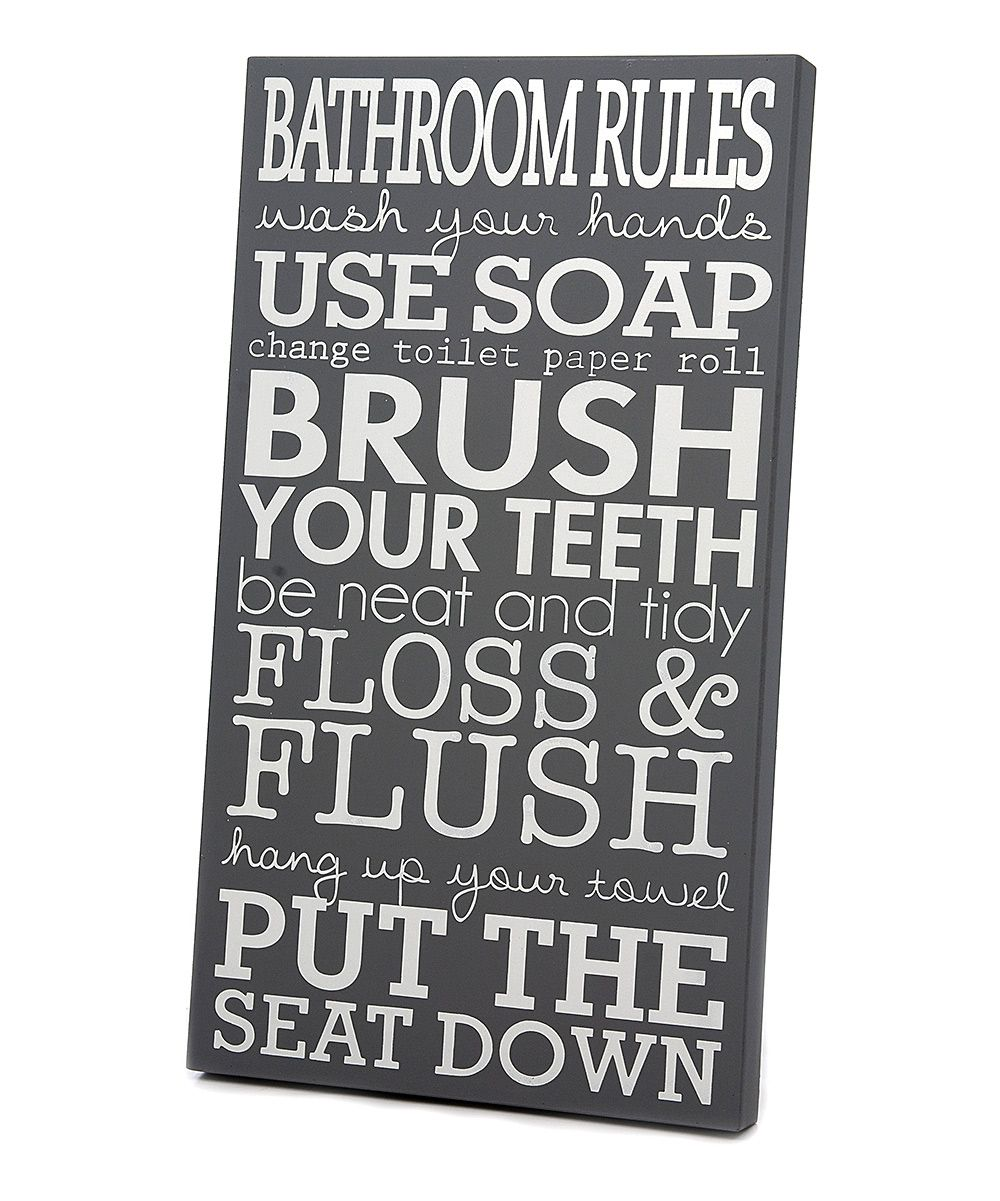 Pin By Levato On Products I Find Interesting Bathroom Rules Wall Art Gray And White Bathroom Bathroom Rules