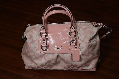 NWT AUTHENTIC $398 COACH ASHLEY SIGNATURE SATEEN LARGE SATCHEL F15440