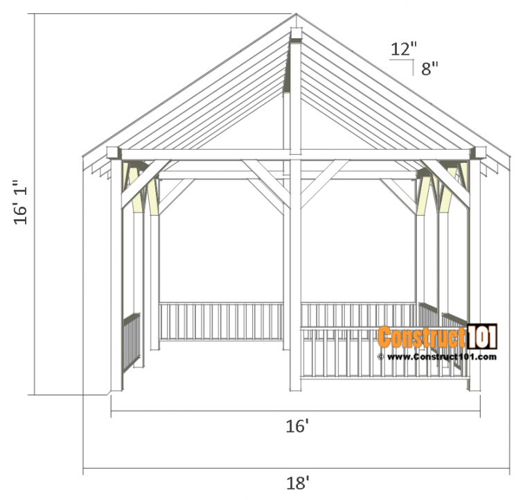 Pavilion Plans 14x16 DIY Free Outdoor Projects
