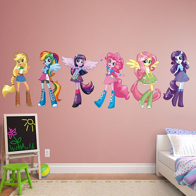 My Little Pony Equestria Girls Collection Real Big Fathead Peel