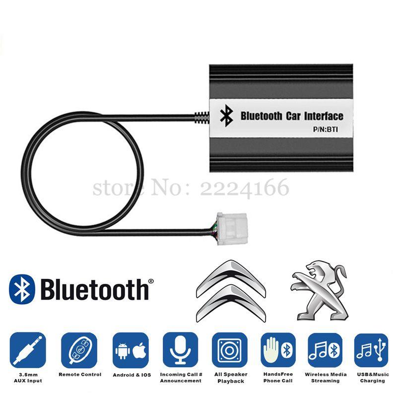 Car Bluetooth A2DP MP3 music Adapter for Peugeot 207 307 RD4 Citroen