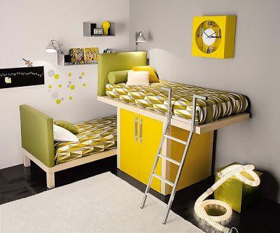 habitación amarilla Cuarto PAULO Pinterest Habitación amarilla - recamaras de madera modernas